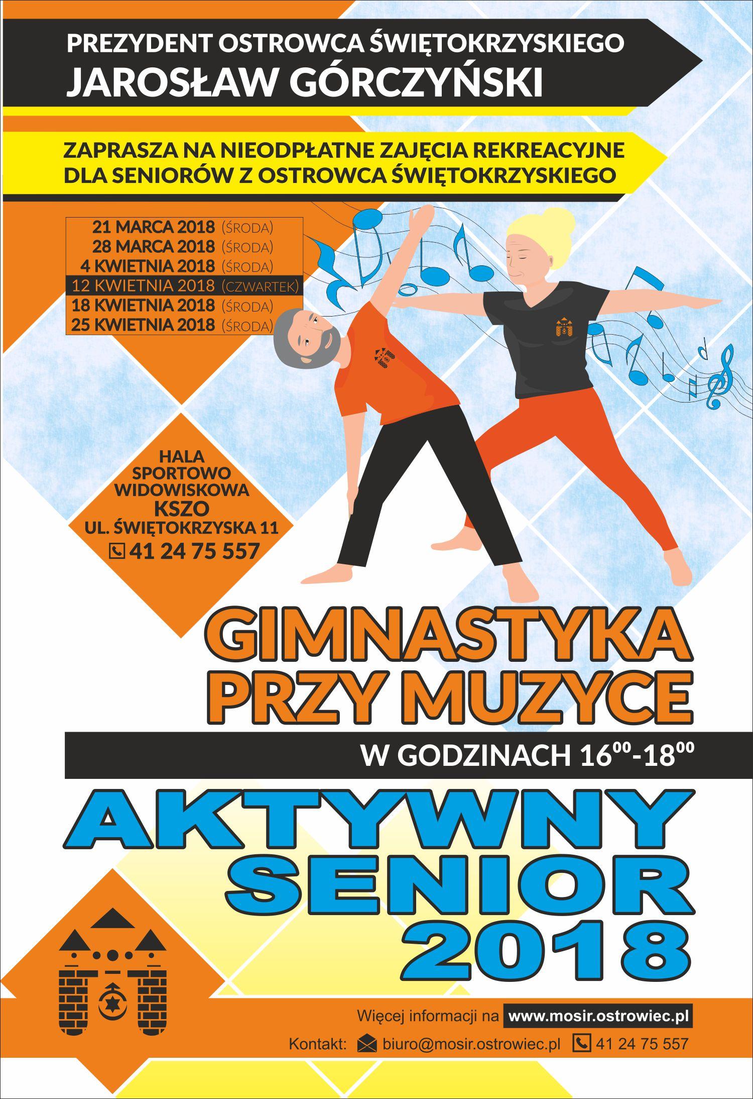 Aktywny Senior plakat 120x175 Gimnastyka przy Muzyce