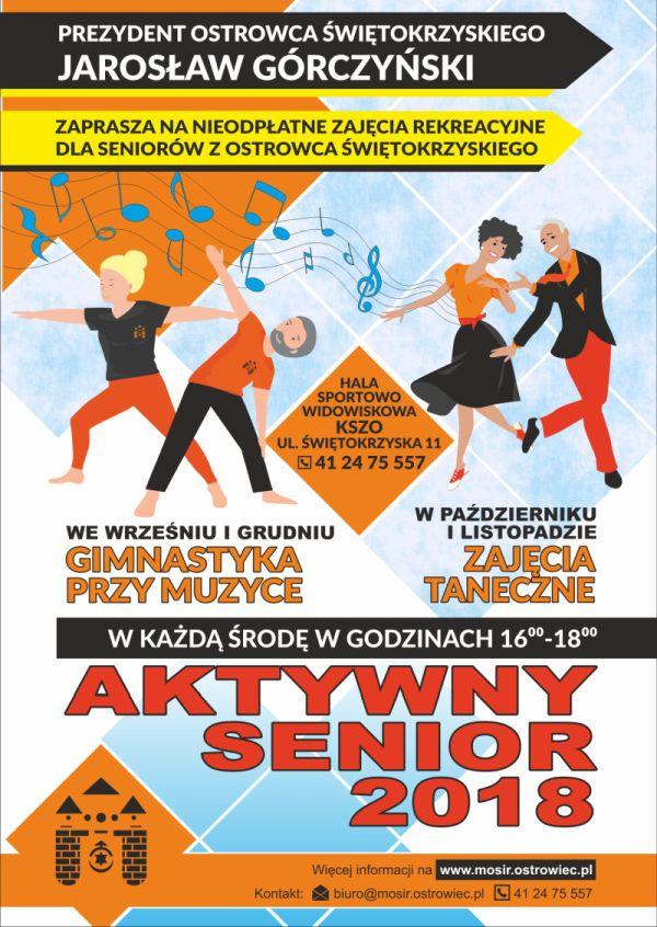 Aktywny Senior plakat strona jesien2018