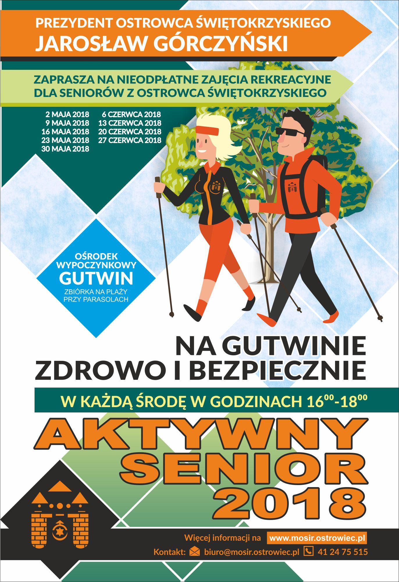 Aktywny Senior plakat zdrowo i bezpiecznie