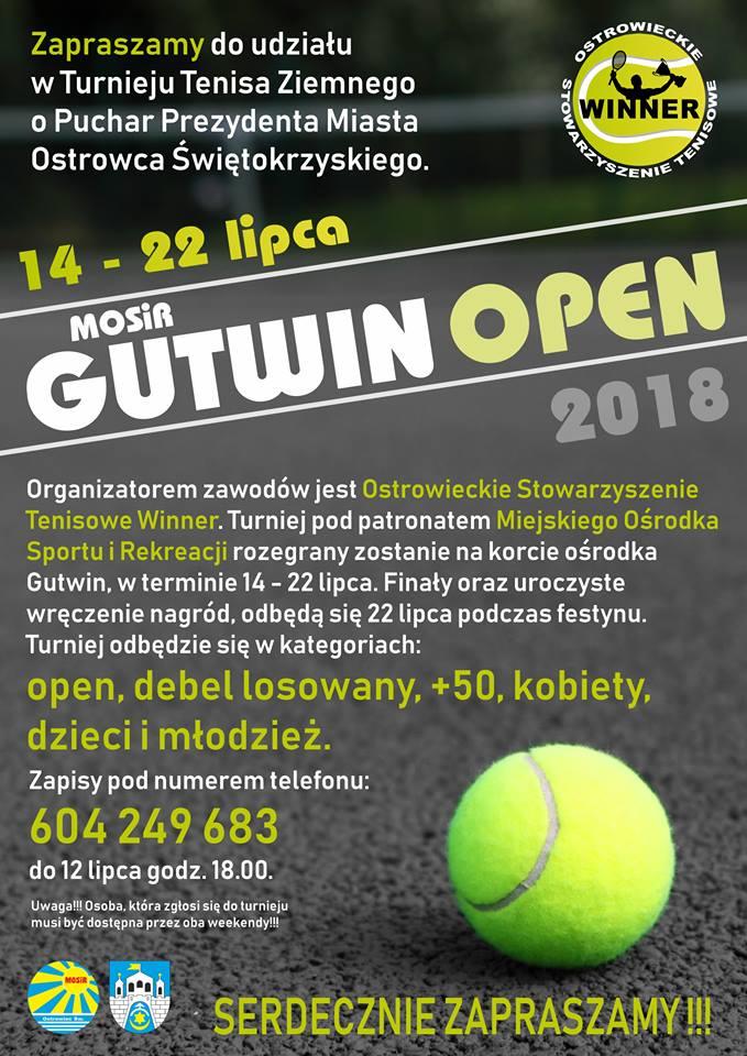 Gutwin Open 2018 plakat