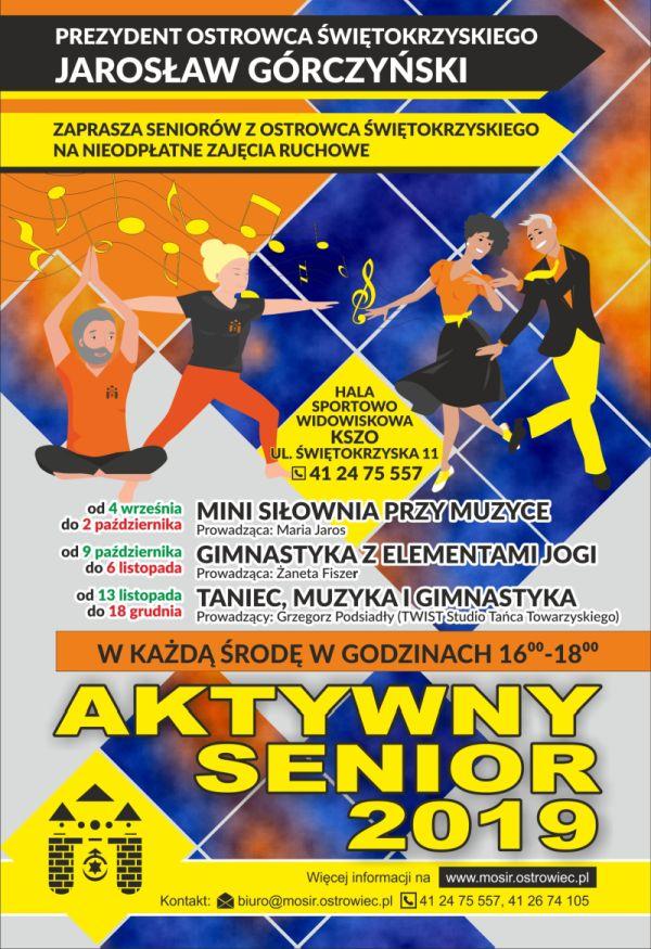 Aktywny Senior plakat 120x175 2019 hala www