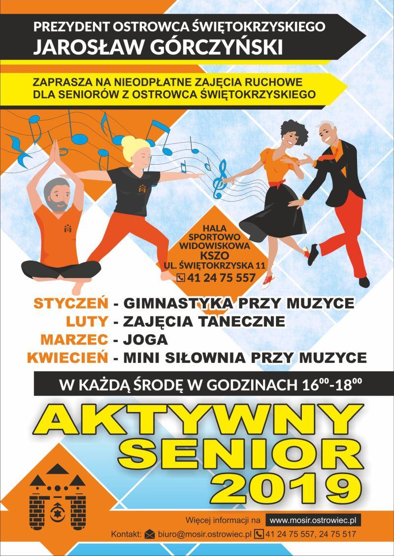 Aktywny Senior plakat 2019