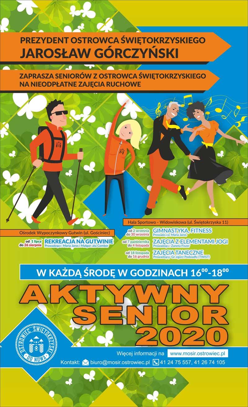 2020 Aktywny Senior wracamy po kwarantannie plakat