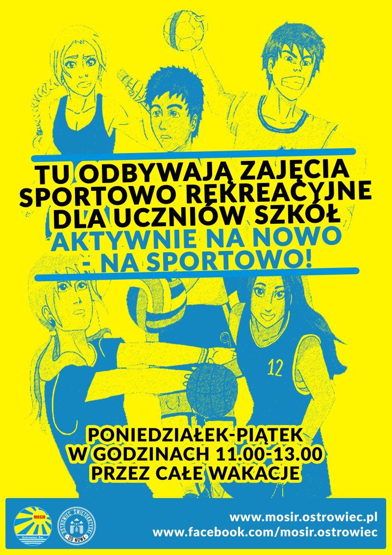 Wakacyjne Zajecia Rekreacyjno Sportowe dla Uczniow plakat