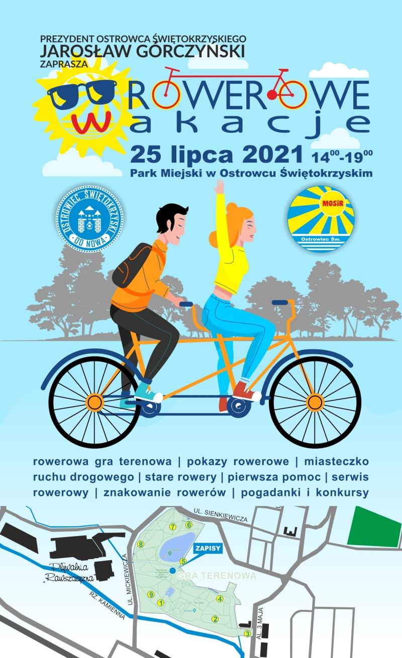 Rowerowe Wakacje 2021 plakat